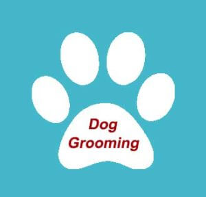 river-dog-inn-white-paw-w-blue-background-and-red-writing-dog-grooming